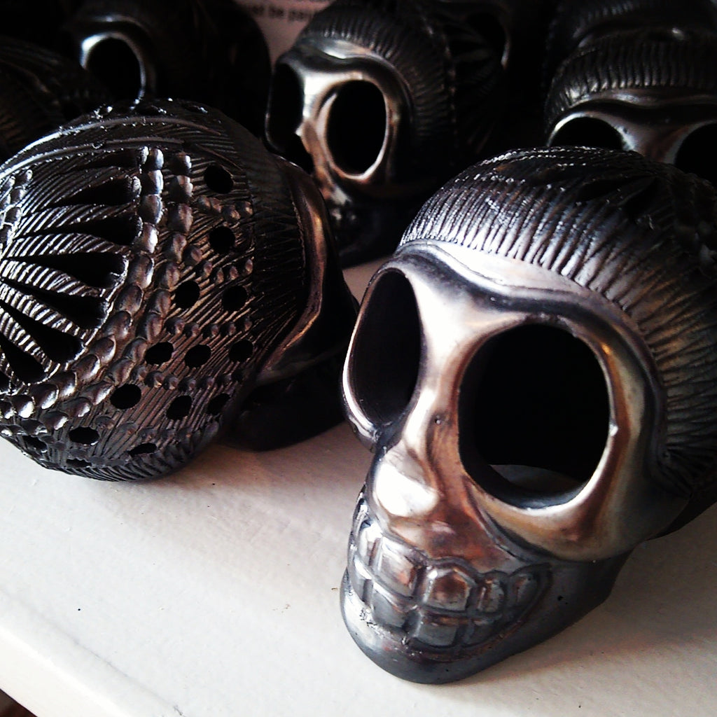Mexican Skulls - Barro Negro from Oaxaca