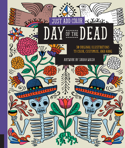 Day of the Dead Colouring Book - Sarah Walsh - Stationery - Eighteen Rabbit Fair Trade