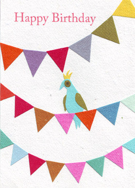 Party Bird card - Stationery - Eighteen Rabbit Fair Trade