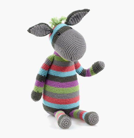 Brady the Donkey - Soft toys - Eighteen Rabbit Fair Trade