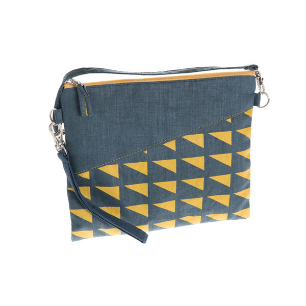 Geometric Linen handbag - Accessories - Eighteen Rabbit Fair Trade  - 3