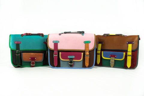 Recycled leather satchel - Accessories - Eighteen Rabbit Fair Trade  - 1