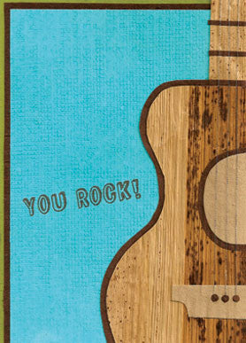 You Rock! card - Stationery - Eighteen Rabbit Fair Trade