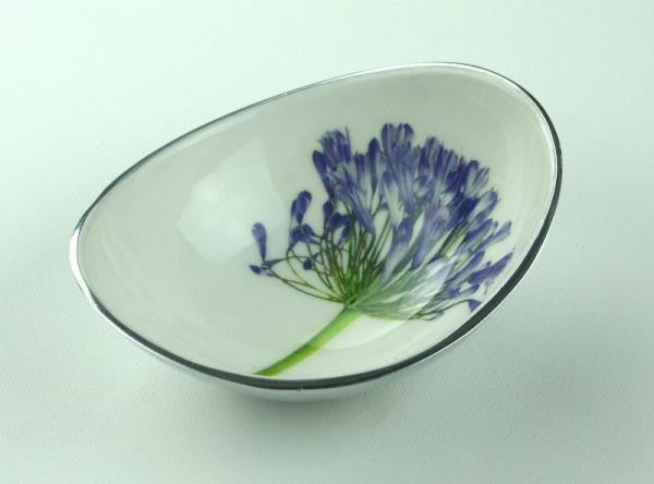 Agapanthus Recycled Aluminium Small Bowl - Homeware - Eighteen Rabbit Fair Trade  - 1