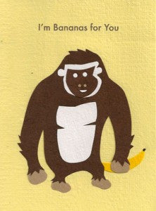 Bananas for You card - Stationery - Eighteen Rabbit Fair Trade