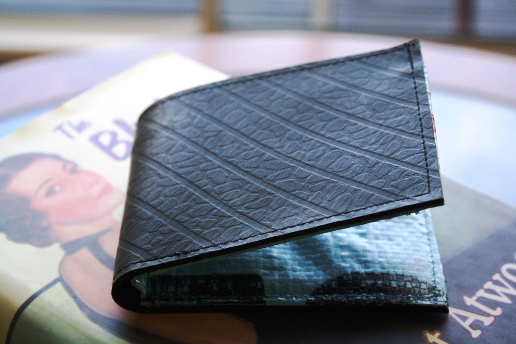 Recycled tyre slim wallet - Accessories - Eighteen Rabbit Fair Trade  - 4