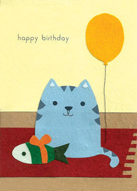 Cat on a Mat card - Stationery - Eighteen Rabbit Fair Trade