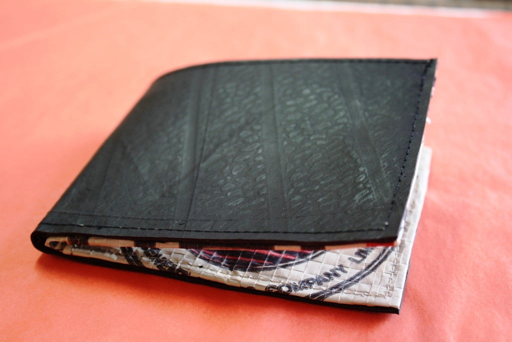 Recycled tyre slim wallet - Accessories - Eighteen Rabbit Fair Trade  - 7
