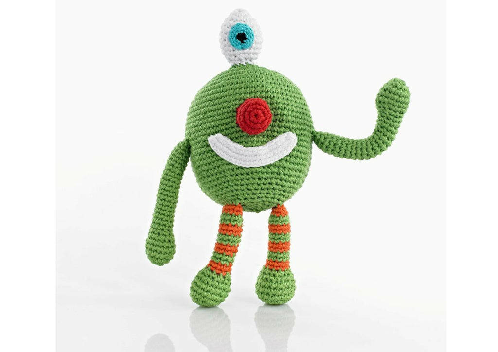 Gabriel the Green Monster - Soft toys - Eighteen Rabbit Fair Trade