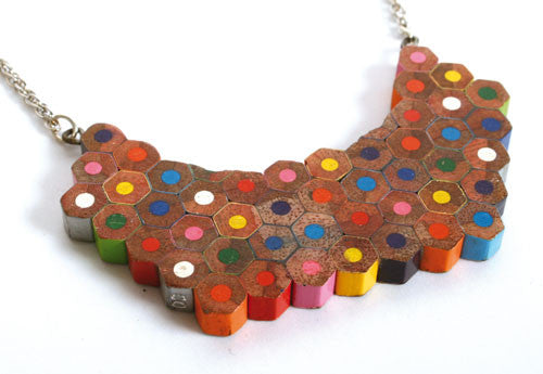 Colouring Book Mosaic Necklace - Jewellery - Eighteen Rabbit Fair Trade  - 2