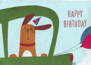 Cruising Dog card - Stationery - Eighteen Rabbit Fair Trade