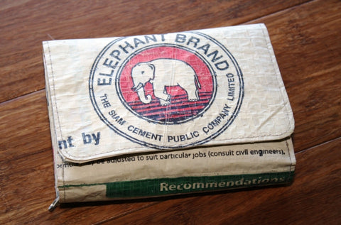 Elephant Cement wallet - Accessories - Eighteen Rabbit Fair Trade  - 1