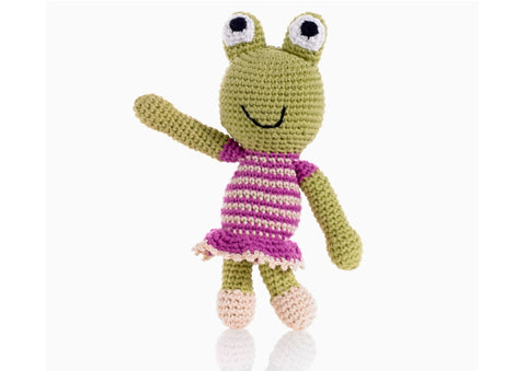 Julia the Frog - Soft toys - Eighteen Rabbit Fair Trade