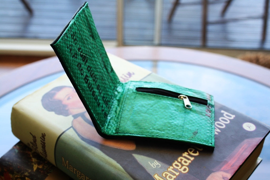 Recycled tyre slim wallet - Accessories - Eighteen Rabbit Fair Trade  - 10