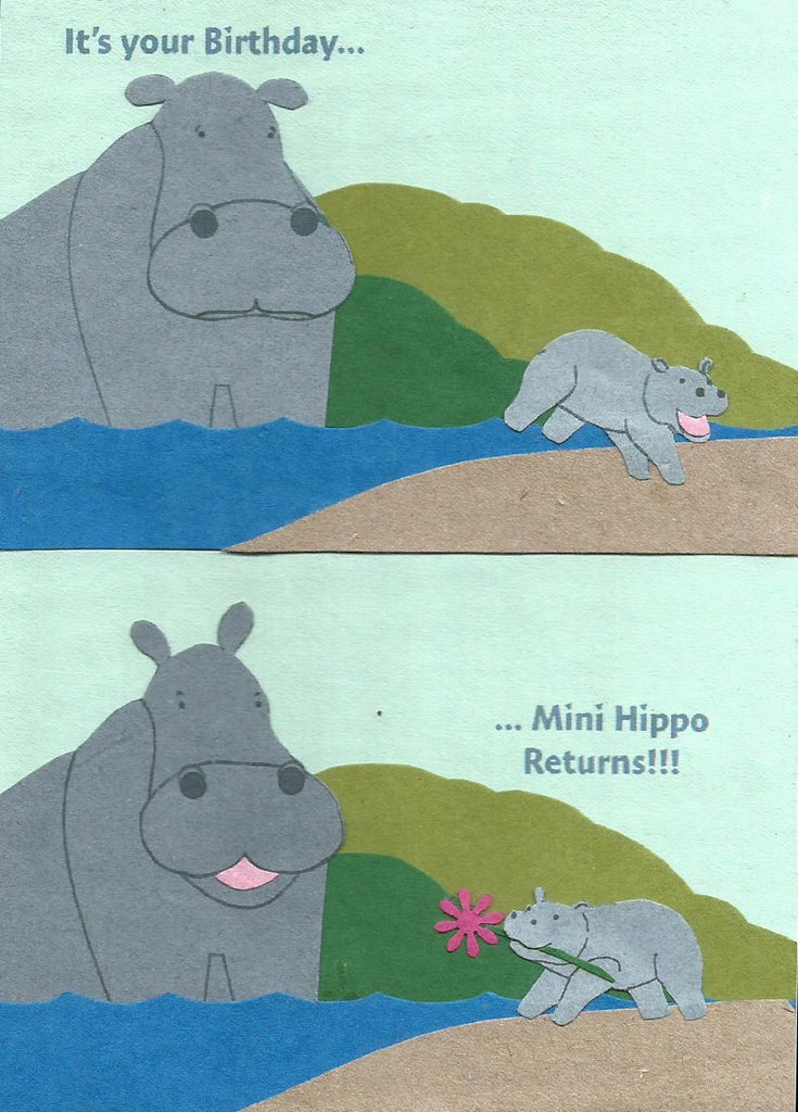 Mini Hippo Returns card