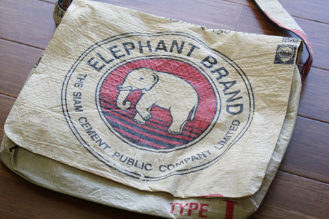 Elephant Cement messenger bag - Accessories - Eighteen Rabbit Fair Trade  - 1