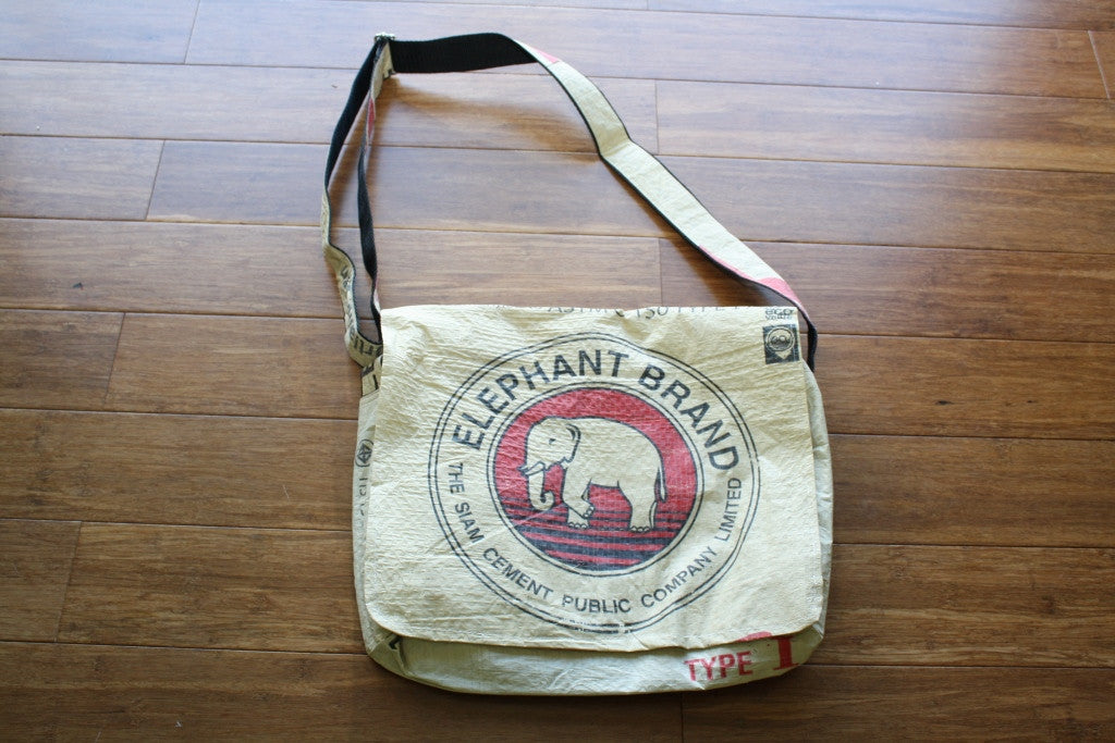 Elephant Cement messenger bag - Accessories - Eighteen Rabbit Fair Trade  - 2