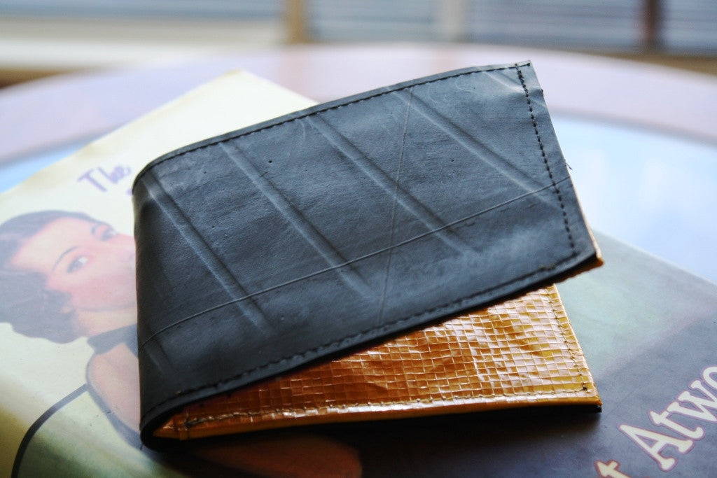 Recycled tyre slim wallet - Accessories - Eighteen Rabbit Fair Trade  - 3