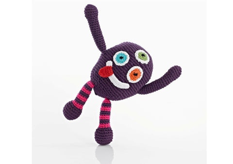 Pablo the Purple People Eater - Soft toys - Eighteen Rabbit Fair Trade