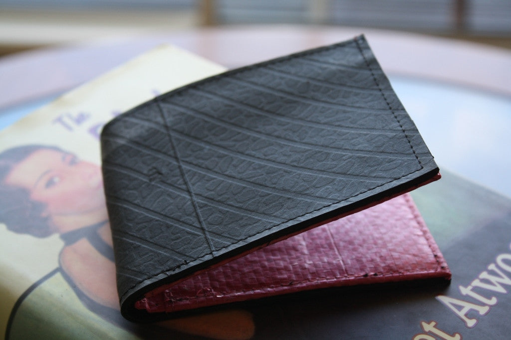 Recycled tyre slim wallet - Accessories - Eighteen Rabbit Fair Trade  - 6