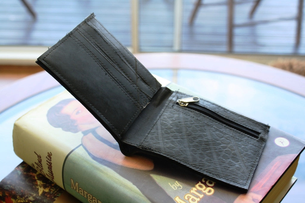 Recycled tyre slim wallet - Accessories - Eighteen Rabbit Fair Trade  - 2