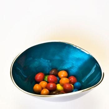 Small Recycled Aluminium Bowl - Homeware - Eighteen Rabbit Fair Trade  - 2