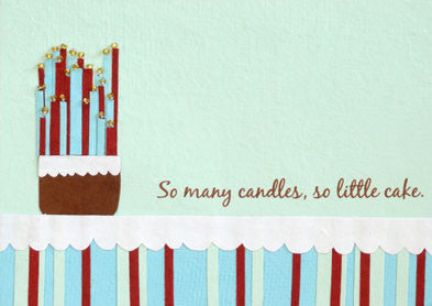 So Many Candles card - Stationery - Eighteen Rabbit Fair Trade