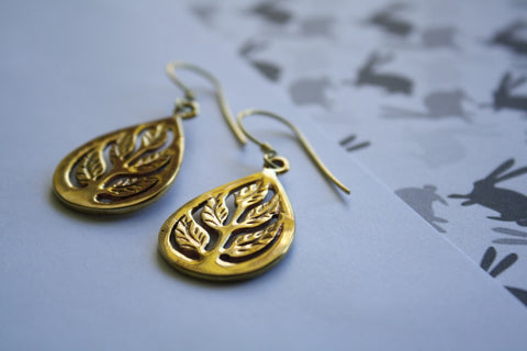 Tree of Life earrings - Jewellery - Eighteen Rabbit Fair Trade