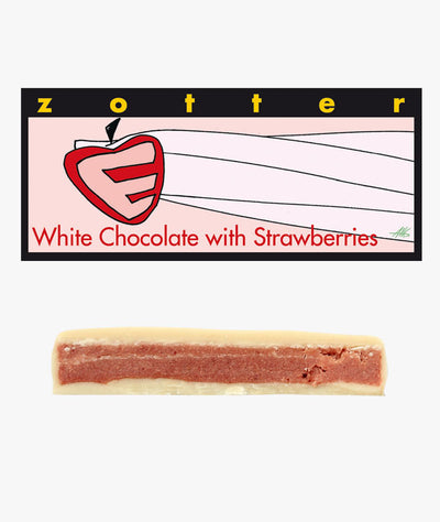 White Chocolate with Strawberries - Chocolate - Eighteen Rabbit Fair Trade