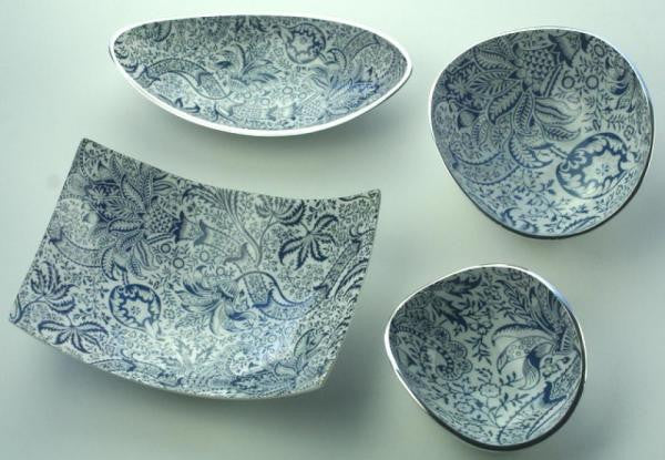 V&A William Morris Recycled Aluminium Long Bowl - Homeware - Eighteen Rabbit Fair Trade  - 2