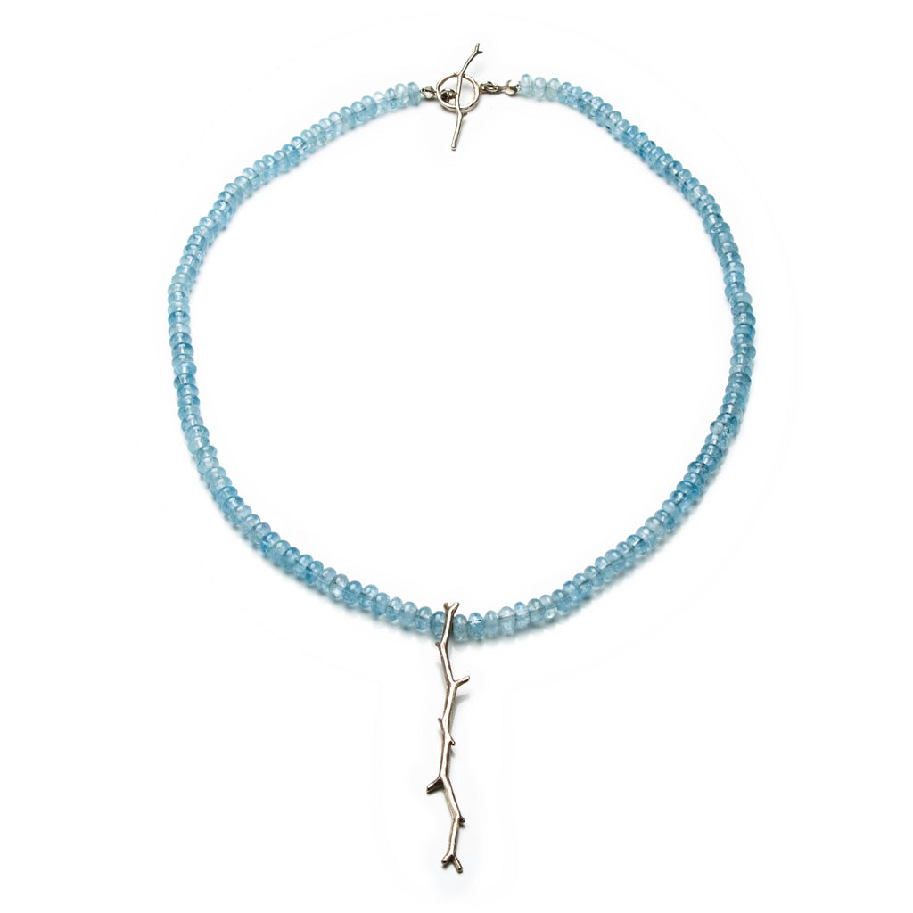 Aquamarine Twig Necklace