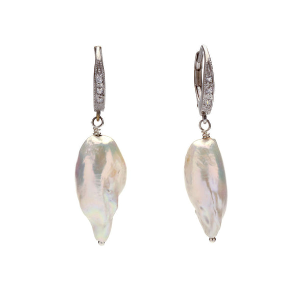 Gemma baroque pearl earrings