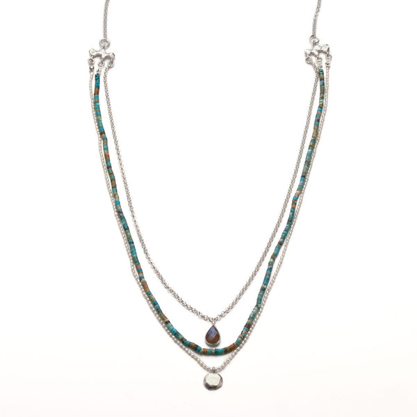 Wabi sabi triple necklace