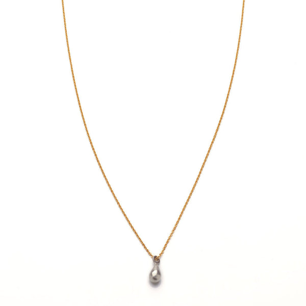 Wabi sabi simple teardrop necklace