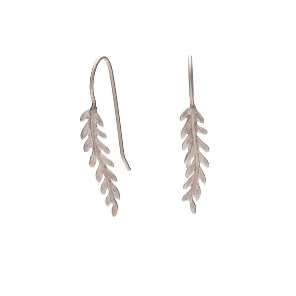 Rome small leaf earrings