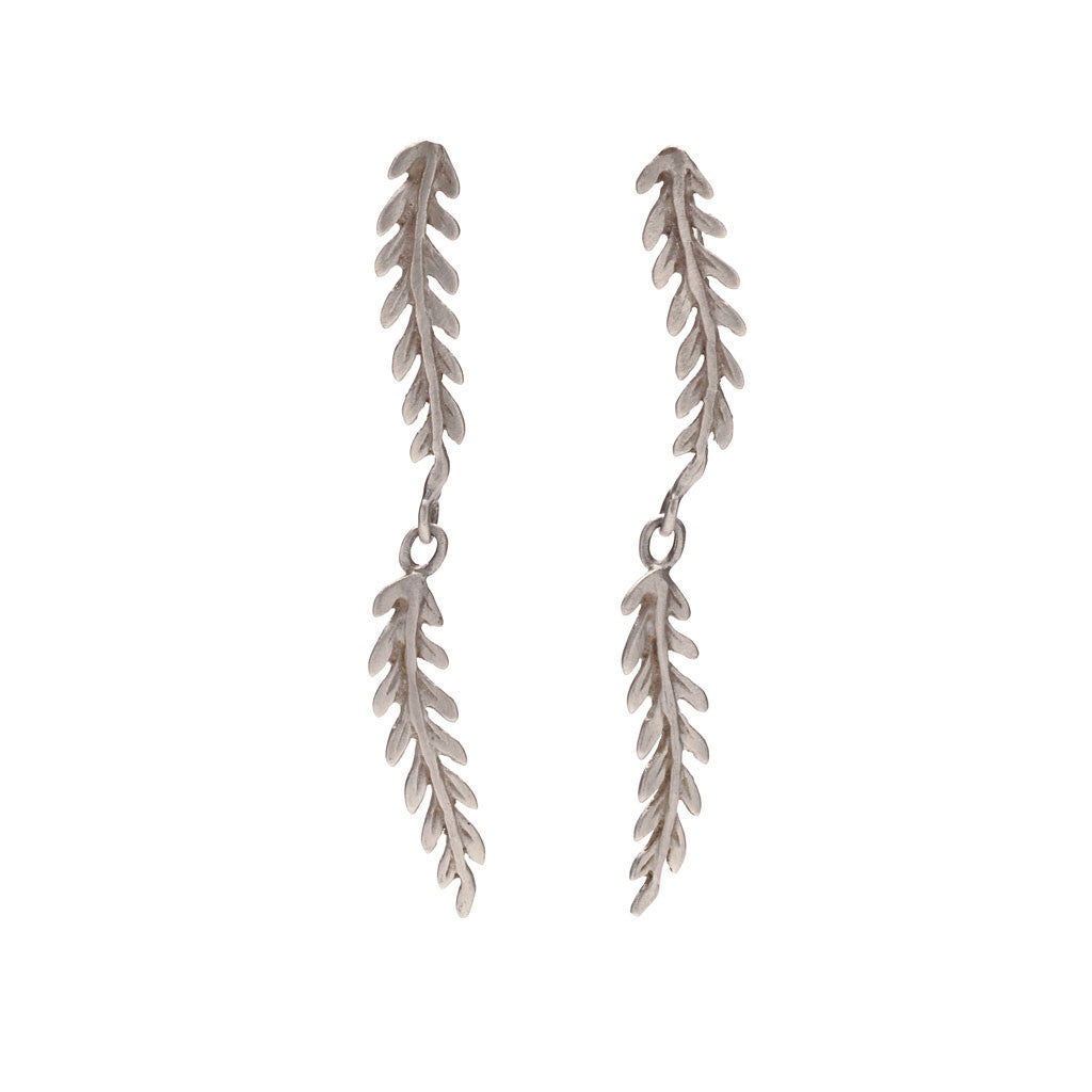 Rome double leaf earrings