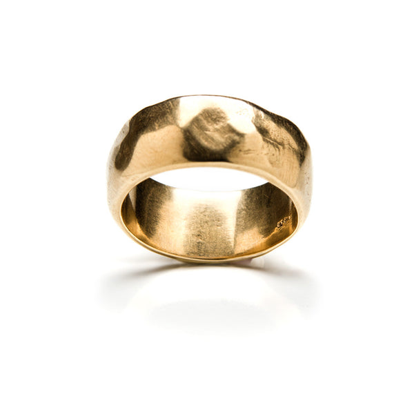 Wide gold band
