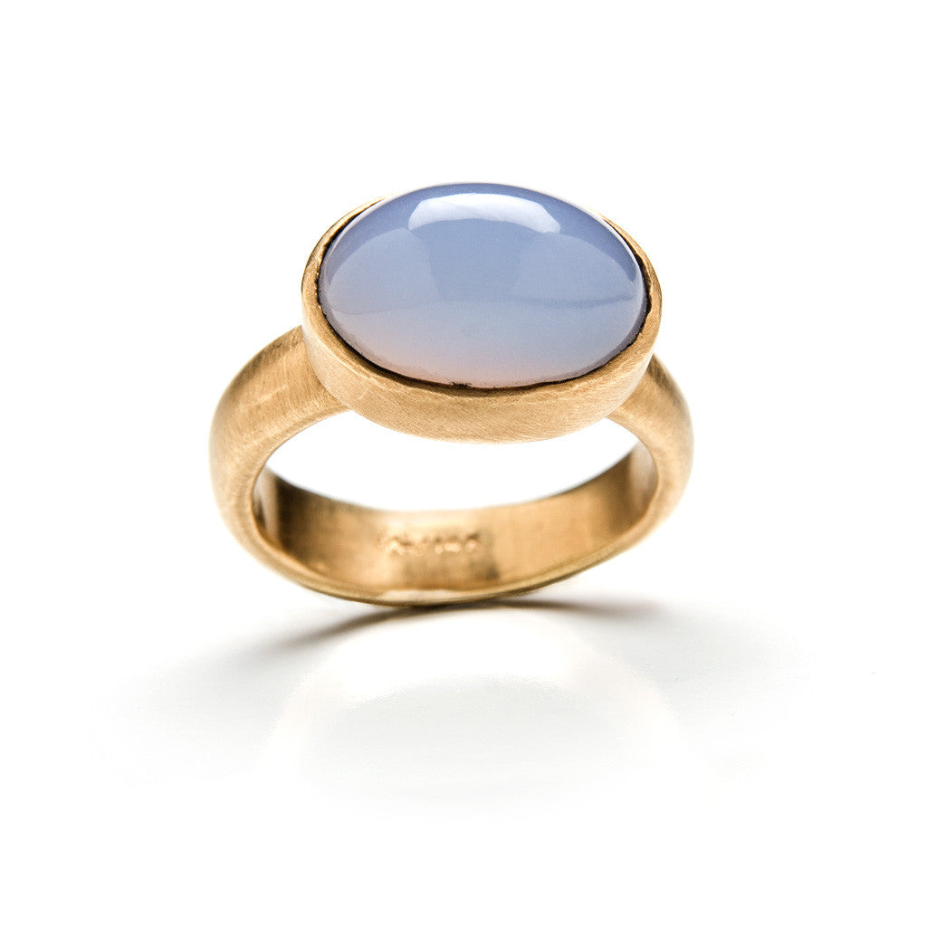 Large gold Cabo ring