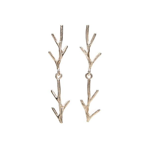 Branch double earrings