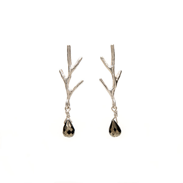 Branch teardrop earrings