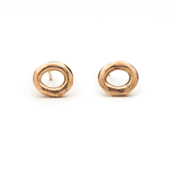 Wabi sabi tiny gold earrings