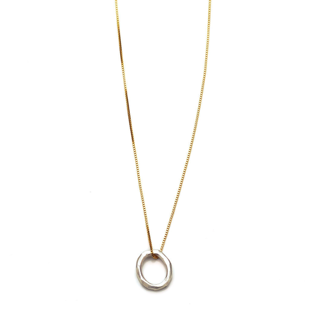 nocrop simple a and necklace anthropologie sustainable pendant