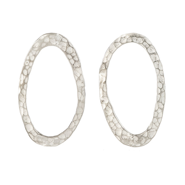 Oval posts earrings