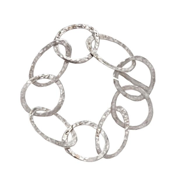 Hammered links bracelet