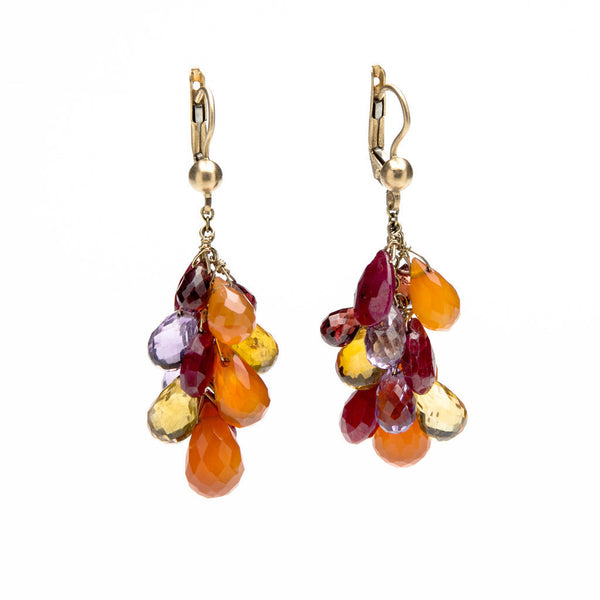 Cascade gold earrings
