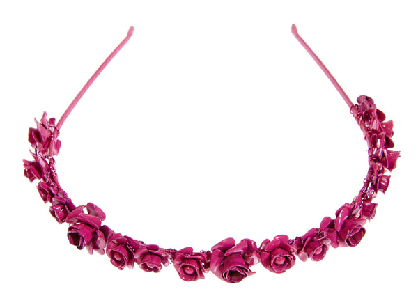 Exclusive!  Jennifer Behr Magenta Rose Crown