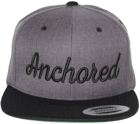 Anchored Snap // Dark Heather + Black