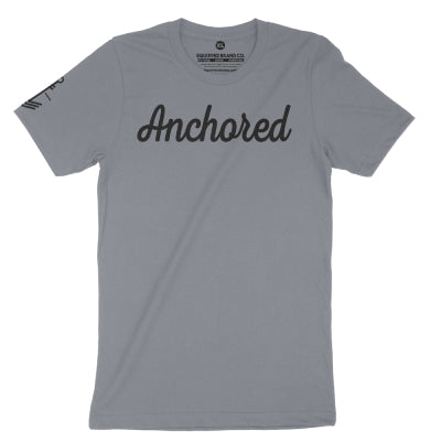 Anchored Tee // Storm Gray + Black