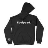 Equipped Statement Hoodie || Black