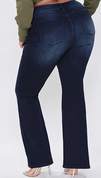 Curvy Denim 5 pocket flare